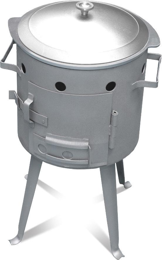 Учаг для казана Кукмор, №4, 15 л. ук04ук04Учаг предназначен для приготовления пищи в казане и походном котле. Учаги- наилучший вариант приготовления пищи на природе, так как разжигания огня происходит непосредственно внутри учага. Учаг- стальной цилиндр-корпус, в комплект которого входят съемные ножки, колосник, дверца и кочерга.