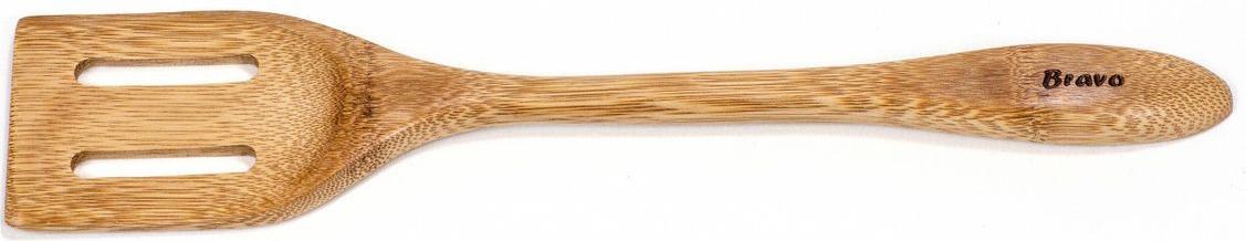 Деревянная лопатка не повреждает антипригарное покрытие посуды. Лопатка полностью натуральна, под воздействием высоких температур не будет выделять вредных веществ. Удобство в использовании лопатки придает закругленный край с одной стороны, который позволяет, легко собирать остатки пищи со стенок любых емкостей.