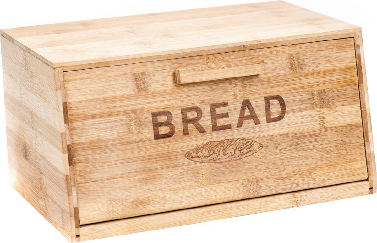 Хлебница Bravo, цвет: коричневый, бежевый, 34,8 х 23 х 18 см