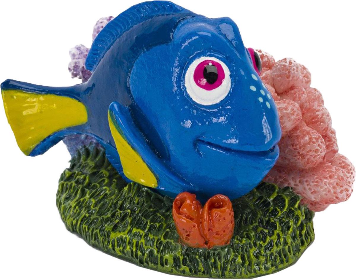 Грот для аквариума Penn-Plax Голубой хирург Дори, 4,5 х 5 х 6,5 см декорация для аквариума penn plax моана 5 7 х 5 3 х 10 6 см