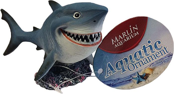 Декорация для аквариума Meijing Aquarium Улыбающаяся акула, 14,2 х 6,7 х 7,4 смMJA-054