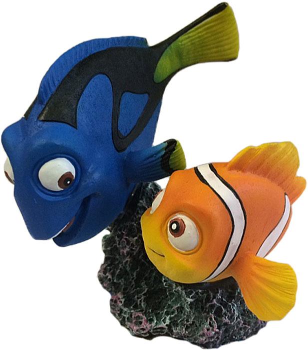 Декорация для аквариума Meijing Aquarium Дори и Немо, 10 х 9,5 х 9,8 см