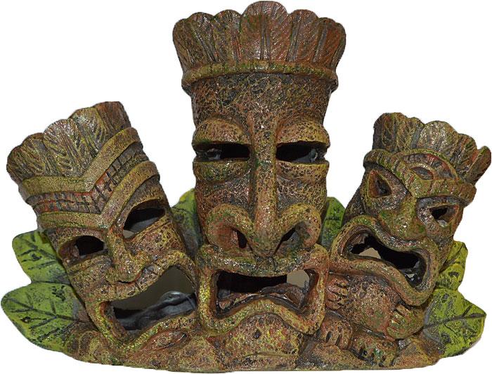 Декорация для аквариума Penn-Plax Племя Тики, 15 см декорация для аквариума penn plax племя тики 15 см