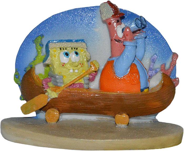 Декорация для аквариума Penn-Plax Губка Боб и Патрик в каноэ, 7 см colorful leather strap for xiaomi mi band smart band accessories for xiaomi miband 2 smart wristband strap for xiaomi mi band 2