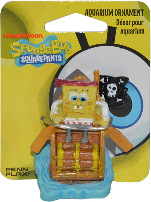 Декорация для аквариума Penn-Plax Губка Боб пират, 5 см декорация для аквариума penn plax племя тики 15 см