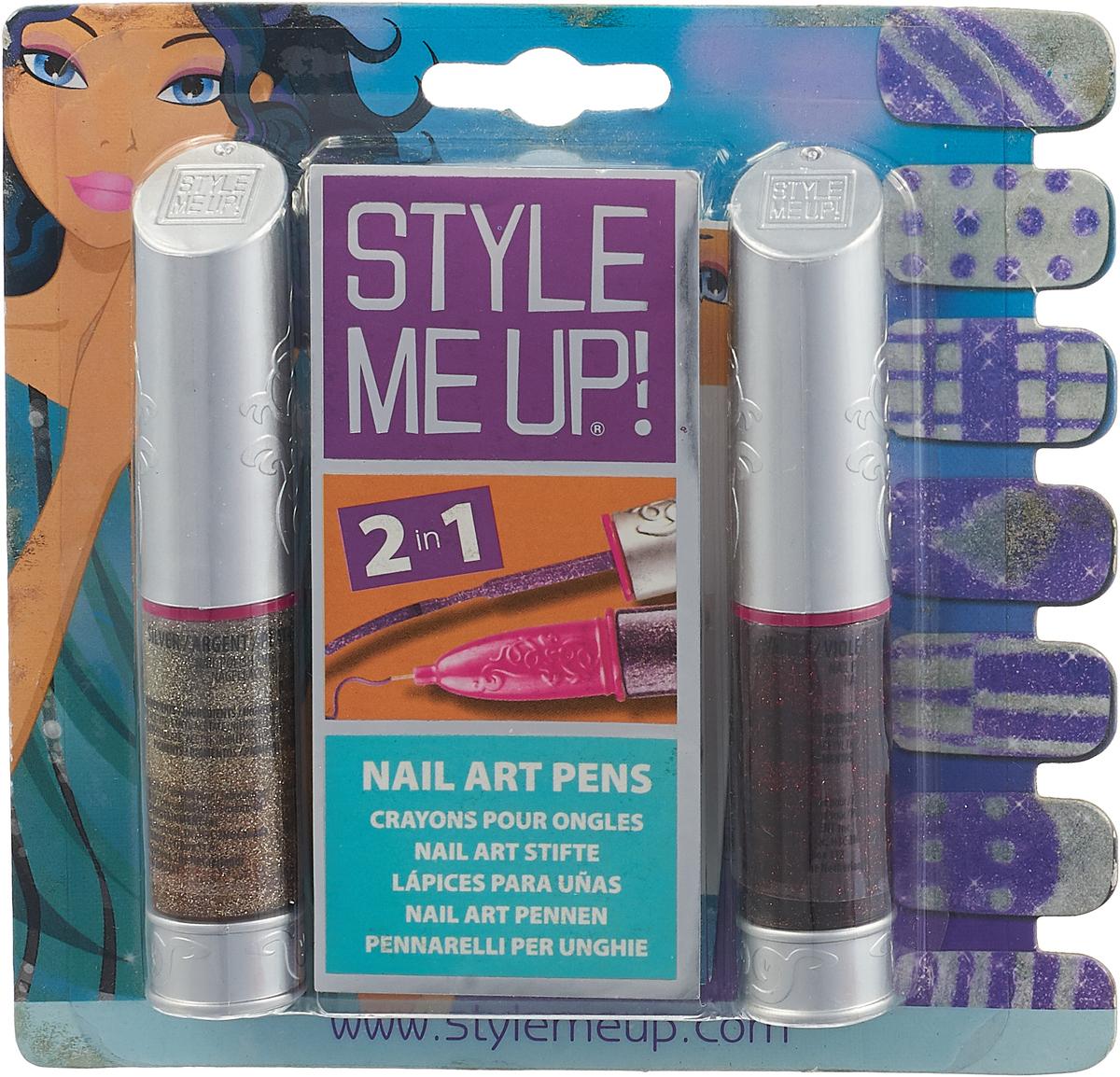 Style Me Up Набор для творчества Блестящий маникюр цвет золотистый фиолетовый