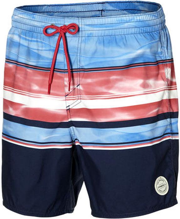Шорты мужские O'Neill Pm Long Beach Shorts, цвет: голубой, красный. 8A3250-5940. Размер XL (52/54) перфоратор акк aeg bbh 18 li 402c 18в 2x4ач liion 0 1400об мин 0 4200уд мин sds 24мм 2 3дж кейс