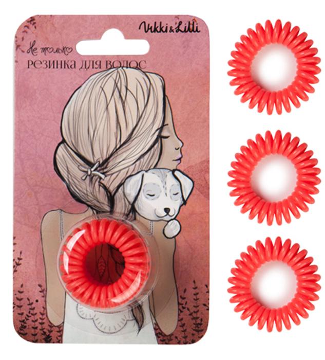Vikki&Lilli Резинка для волос, цвет: коралловый, 3 шт vikki&lilli резинка для волос цвет коралловый 3 шт