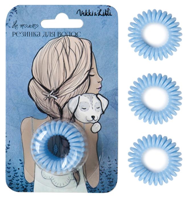 Vikki&Lilli Резинка для волос, цвет: светло-голубой, 3 шт000065Vikki&Lilli - самая заботливая резинка для волос в форме пружинки. Эта резинка устроена так, что не повреждает волосы, не заламывает и не рвет их. Она влагостойкая, с ней можно ходить в бассейн, сауну, заниматься спортом, ее можно применять как стильный браслет.