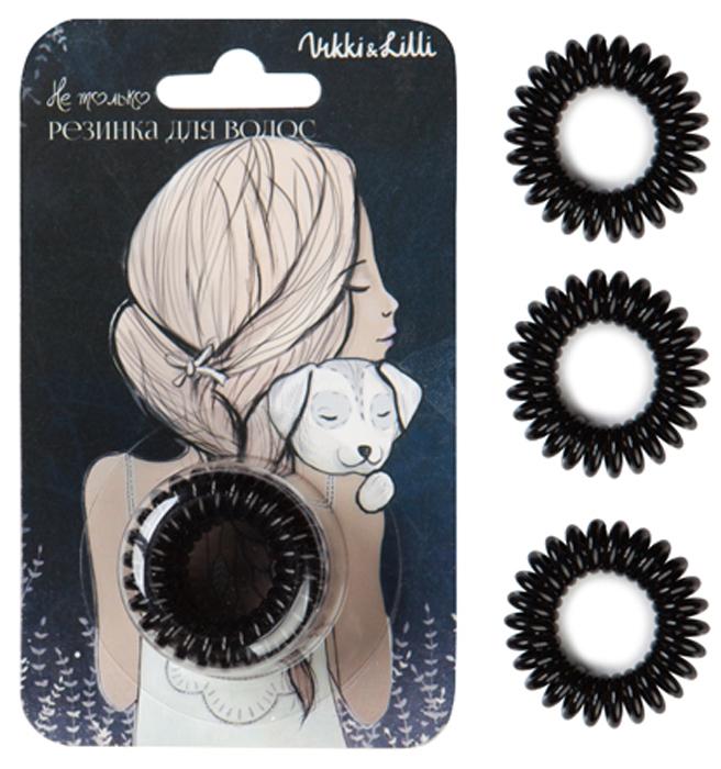 Vikki&Lilli Резинка для волос, цвет: черный, 3 шт
