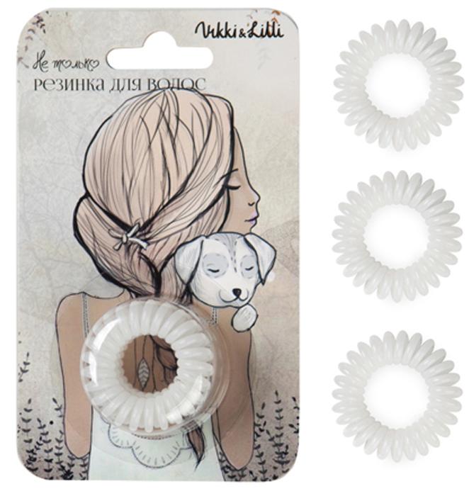 Vikki&Lilli Резинка для волос, цвет: белый, 3 шт
