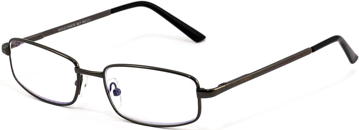 Bouquiniste Очки для чтения BLF 002 C21 +1.54690452043616Готовые очки для чтения с фильтром для защиты глаз от UV400 и потенциально опасных лучей синего света, излучаемого экранами большинства электронных устройств.Снижают интенсивность потенциально опасных лучей синего цвета.Увеличивают контрастность изображения.Повышают четкость и яркость зрения.Нейтрализуют яркий и отраженный свет.Уменьшают усталость глаз.Новые очки для работы с цифровыми устройствами созданы для того, чтобы ваша жизнь онлайн была как можно комфортнее.Металлические и пластиковые оправы подойдут как модникам, так и любителям классики. Продаются без рецепта.Защита глаз сегодня, отличное зрение в будущем!