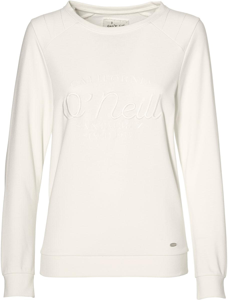 Купить Свитшот женский O'Neill Lw Essentials Logo Crew, цвет: белый. 8A6466-1030. Размер XS (42/44)