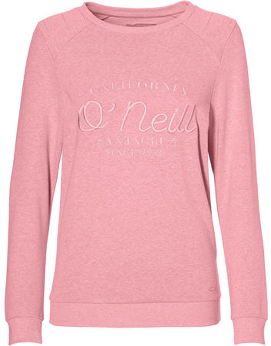 Свитшот женский O'Neill Lw Essentials Logo Crew, цвет: розовый. 8A6466-4089. Размер XS (42/44) свитшот женский converse star chervon track cropped crew цвет серый 10005758035 размер xs 42