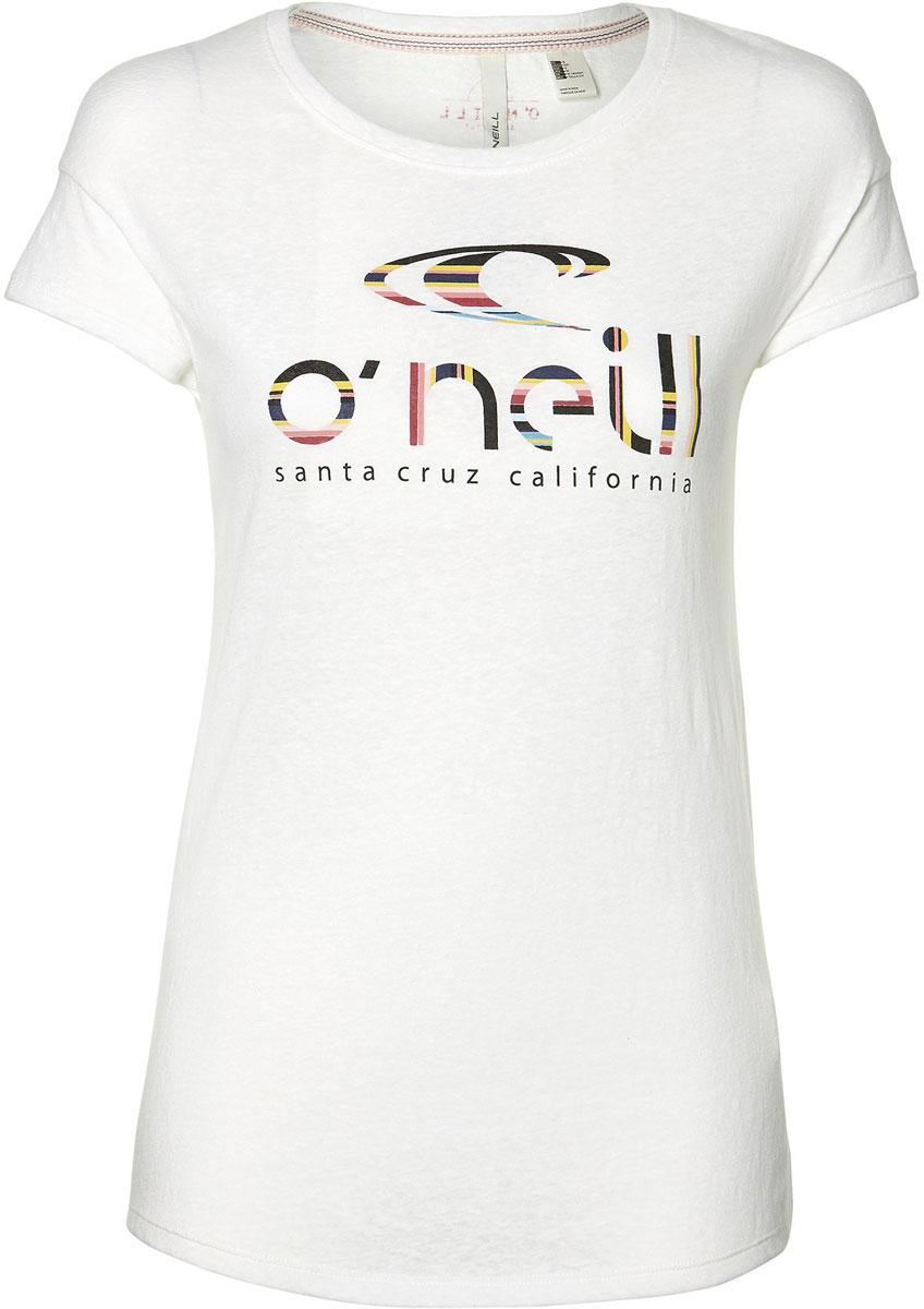Купить Футболка женская O'Neill Lw Waves T-Shirt, цвет: белый. 8A7306-1010. Размер XS (42/44)