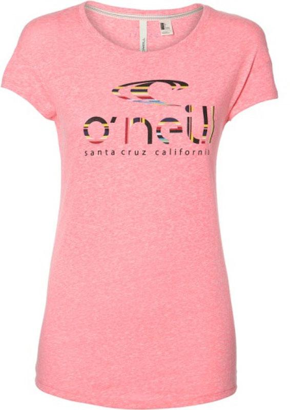 Купить Футболка женская O'Neill Lw Waves T-Shirt, цвет: розовый. 8A7306-4091. Размер XS (42/44)