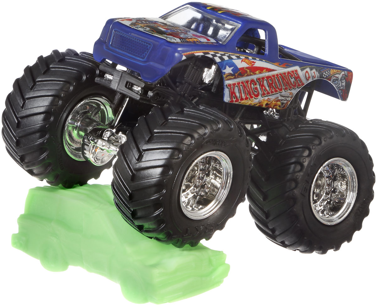Hot Wheels Monster Jam Машинка King Krunch milliard 9 leg support system heavy duty metal bed frame with lockable rollers wheels king