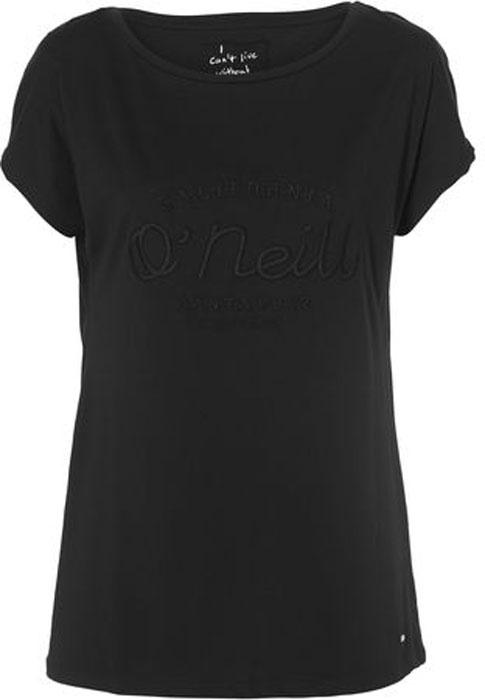 Футболка женская ONeill Lw Essentials Brand T-Shirt, цвет: черный. 8A7360-9010. Размер S (44/46)8A7360-9010Футболка от ONeill выполнена из натурального хлопкового трикотажа. Модель с короткими рукавами и круглым вырезом горловины.