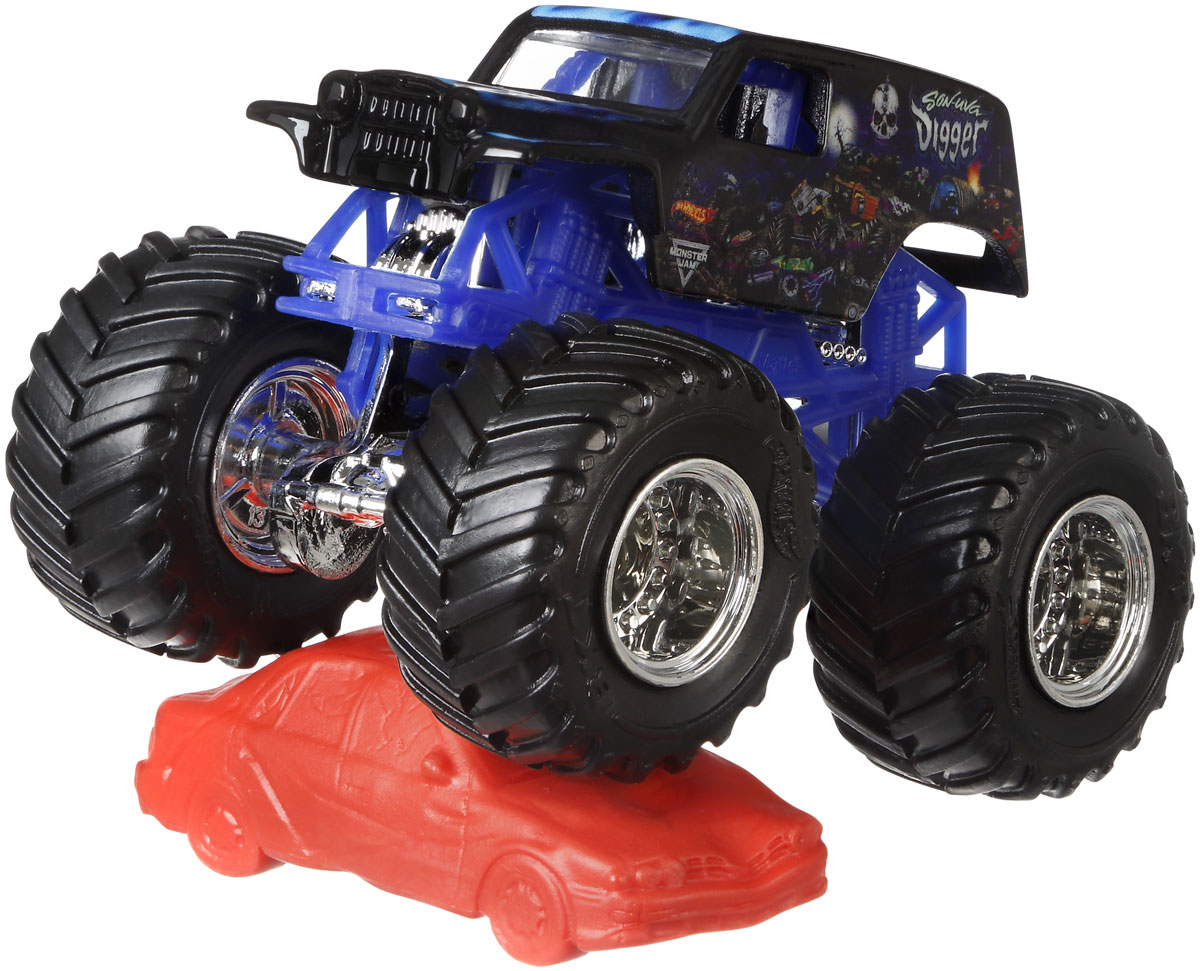 Hot Wheels Monster Jam Машинка Son-Uva Digger mattel машинка hot wheels monster jam бэтмен