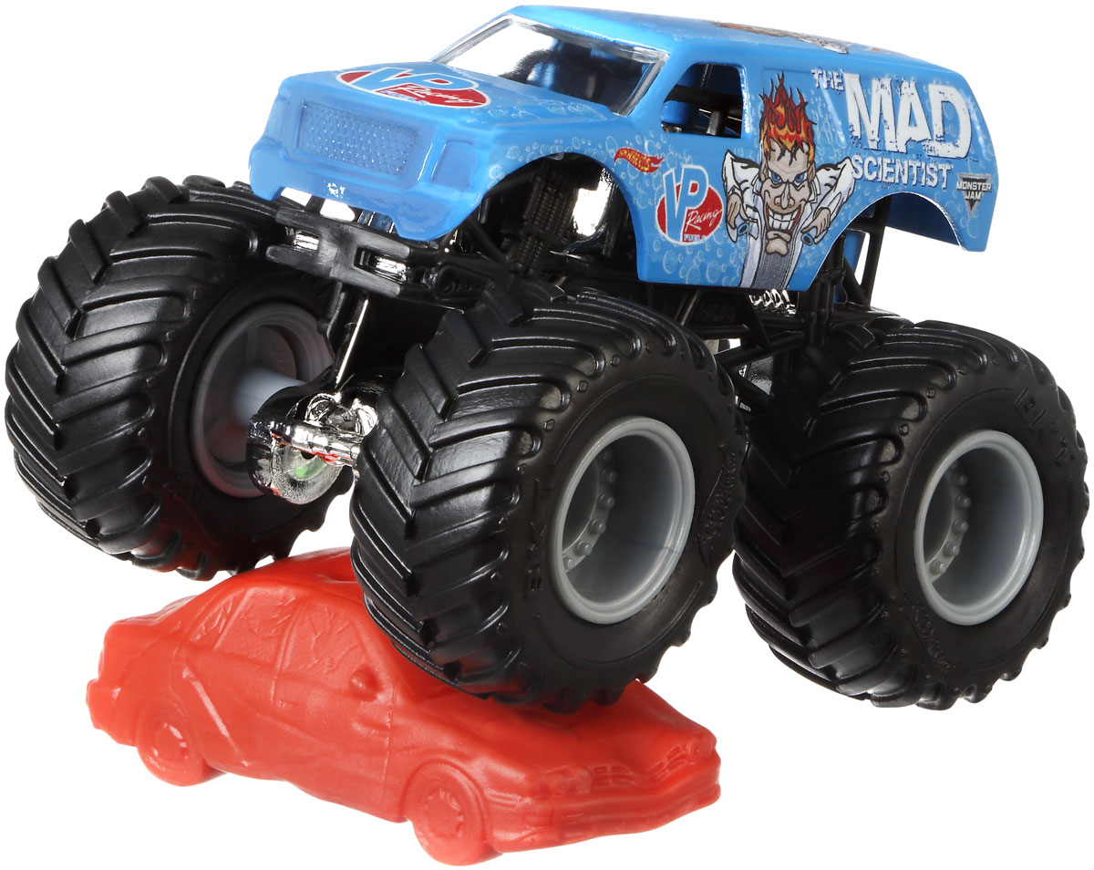 Hot Wheels Monster Jam Машинка The Mad Scientist mattel машинка hot wheels monster jam бэтмен
