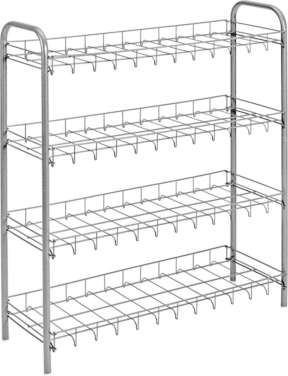 Подставка для обуви Metaltex, 4-уровневая, цвет: серый, 64 х 26 х 80 см centrum 3d папка сумка а4 max steel