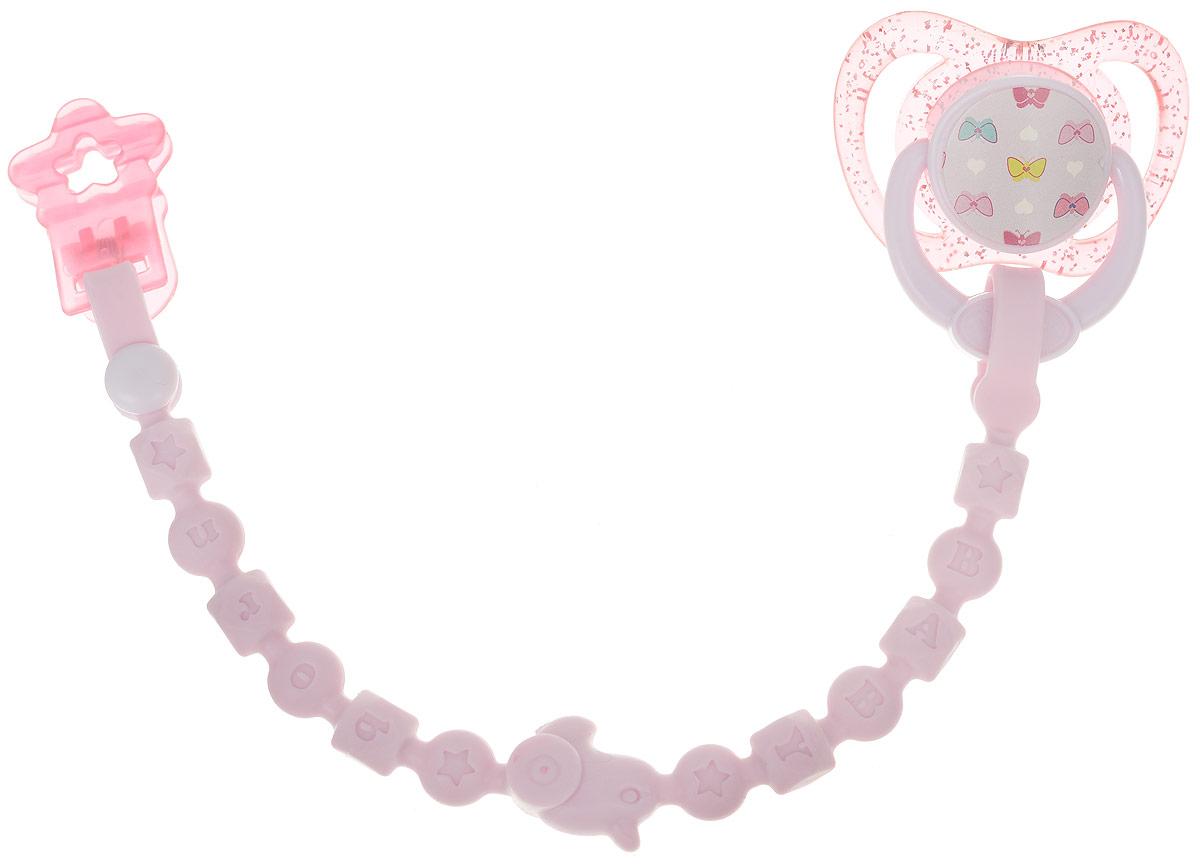 Zapf Creation Аксессуар для кукол BABY born Соска с цепочкой цвет розовый одежда для кукол zapf creation baby born халат с капюшоном веш