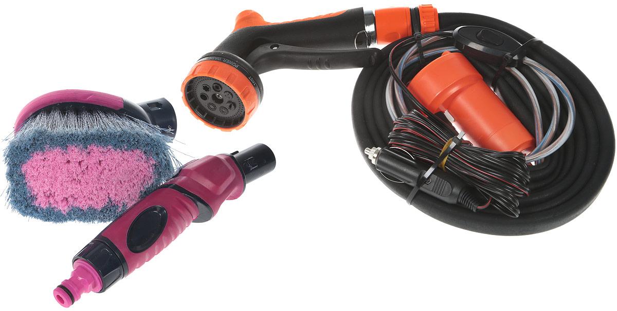 """Минимойка Балио """"Лонгер-компакт-Форте"""" предназначена для частой мойки автомобиля, а   также двигателя и других узлов, расположенных под капотом. Минимойка позволяет при   минимальном расходе воды быстро и аккуратно помыть автомобиль, при этом самому остаться   чистым. Характеристики: - В минимойке """"Лонгер-Форте"""" применяется специальный высокоэффективный мотор-насос с   продолжительным режимом работы и длительным сроком службы, позволяющим при   минимальном расходе тока и малых габаритах прокачивать значительный объем воды; - Рабочие валы насоса изготовлены из нержавеющей стали; - На насосе имеется сетка, предотвращающая попадание грязи внутрь; - Шланг минимойки изготовлен из специального каучука и остается мягким и эластичным даже   при отрицательной температуре воздуха; - """"Лонгер-Форте"""" может быть использован также как душ и устройство для поливки растений,   мытья фруктов и овощей; - Устройством можно пользоваться и в зимний период; - Минимойка укомплектована пластиковой сумкой, удобной для хранения и переноски изделия.    Технические характеристики: - режим работы – продолжительный, - питание – постоянный ток, - напряжение – 12 В, - потребляемый ток – 1,9 А, - плавкий предохранитель на 2,5 А, - температура воды – до 45°С, - длина каучукового шланга – 4 м, - длина провода электропитания – 4 м, - душ-пистолет – 7 режимов струи, - мягкая щетка с регулятором расхода воды, - срок службы: 5-7 лет.      Как выбрать мойку высокого давления. Статья OZON Гид"""