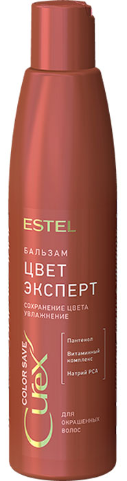 Estel Curex Color Save Шампунь для окрашенных волос 300 млCU300/S3Шампунь для окрашенных волос Estel Curex Color Save содержит кератиновый комплекс для восстановления окрашенных, поврежденных волос и волос после химической завивки. Результат: Закрепление цвета Восстановление структуры Мягкое очищение.Уважаемые клиенты! Обращаем ваше внимание на то, что упаковка может иметь несколько видов дизайна. Поставка осуществляется в зависимости от наличия на складе.