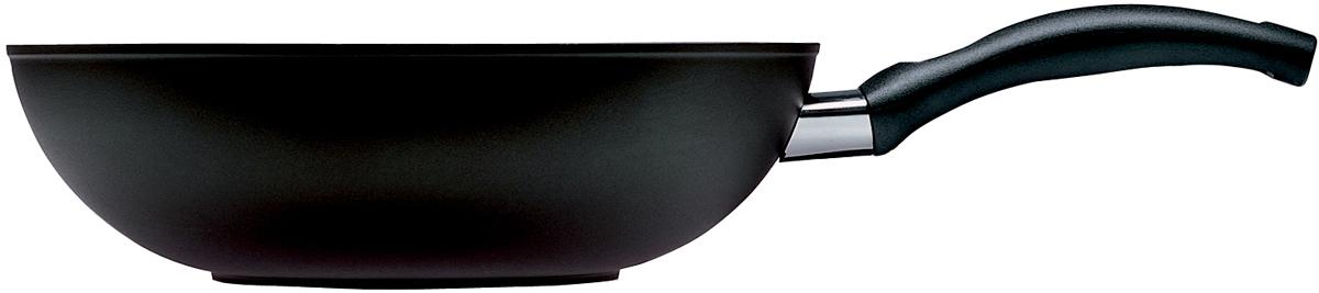Вок Ballarini Rialto Granitium, c антипригарным покрытием. Диаметр 28 см9N9W40.28Сковорода кованная Rialto от Ballarini из алюминия c антипригарным покрытием идеальна для приготовления здоровой пищи без масла.Отличительные особенности серии:- Не подходит для индукционной плиты!- Эргономичная устойчивая к нагреванию ручка, защитное кольцо и заклепки из нержавеющей стали обеспечивают надежность крепления и защиту от коррозии- Внешнее покрытие устойчиво к высоким температурам и пригодно для мытья в посудомоечной машине.- Темное покрытие дна обеспечивает быстрое распределение тепла.- Сковорода кованная из алюминия обеспечивает стабильность формы технология ковки под высоким давлением с использованием алюминия высокой чистоты (98%).- Чрезвычайно прочное антипригарное покрытие состоит из 3 слоев, усилено керамическими частицами для интенсивного использования.- Устойчиво к использованию металлических принадлежностей.- Запатентованный термодатчик - индикатор температуры для экономии энергии (красный: сковорода достигла оптимальной для приготовления температуры, можно уменьшить мощность конфорки для экономии энергии; зеленый: сковорода остыла, можно мыть.Granitium - структура покрытия:1. слой покрытия высокой плотности с максимальными антипригарными свойствами.2. 3. двойной упрочненный слой, обеспечивающий износостойкость.4. средний слой армированного напыления с высоким содержанием минералов.5. фиксирующий слой.6. алюминиевый корпус, предварительно обработанный, с заданной шероховатостью.7. наружный защитный слой.Уход: Мыть жидким моющим средством, без применения абразивных веществ и металлических мочалок. Пустую сковороду не подвергать воздействию высоких температур.Посуда производится из сертифицированных материалов, антипригарное покрытие не содержит ПФОА, никеля и тяжелых металлов, безопасна для аллергиков.Качество продукции Ballarini контролируется международными организациями, такими как Neotron (Италия), LGA (Германия), the Danish Institute (Дания), гарантирует полну