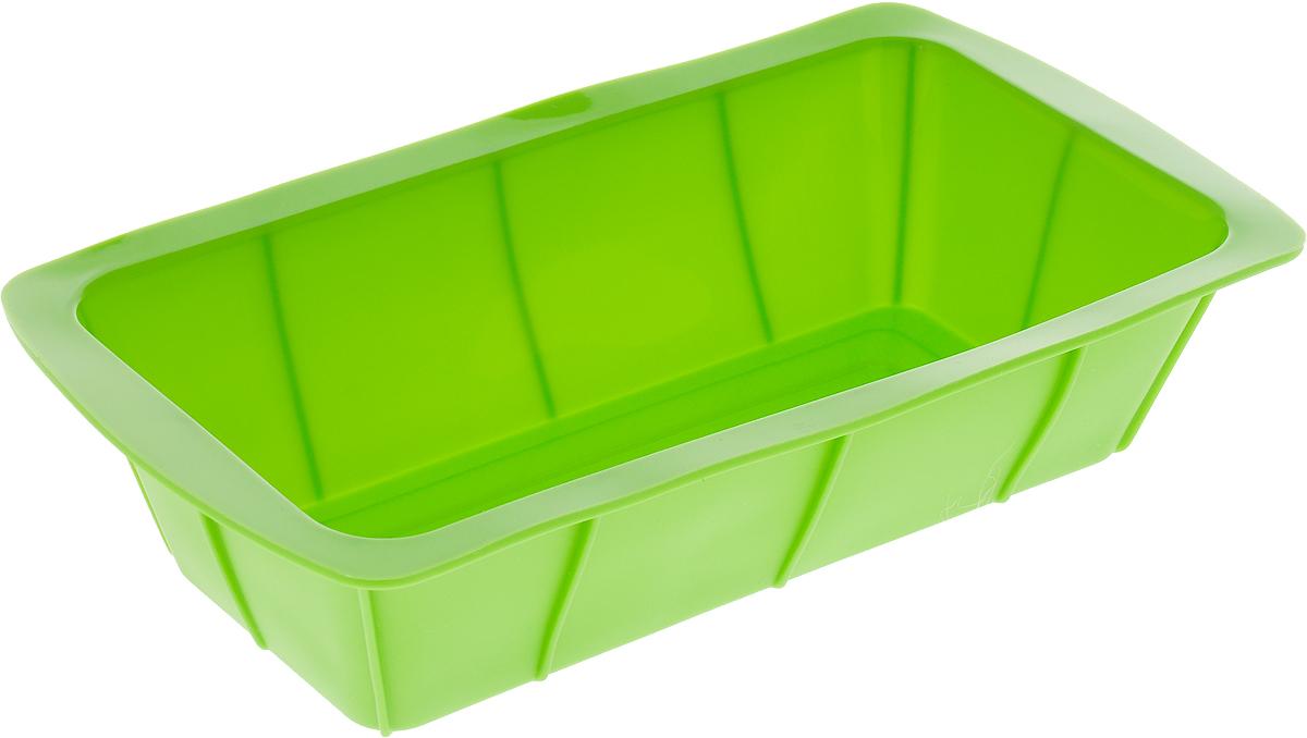 Форма для выпечки Доляна Симплекс, цвет: зеленый, 25 х 13 х 6 см форма для выпечки frybest provance овальная цвет зеленый 44 х 28 х 8 см