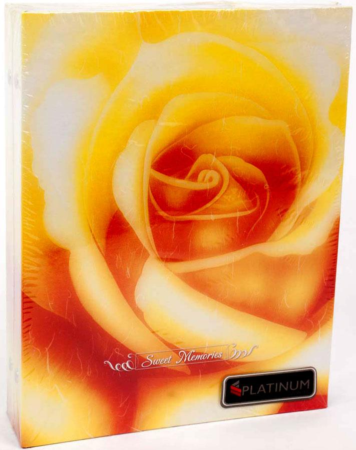 """Фотоальбом Platinum """"Розы"""" имеет пластиковые листы с заклепками.Характеристики: Кол-во фотографий: 200Размер фотографии: 10 х 15 см."""