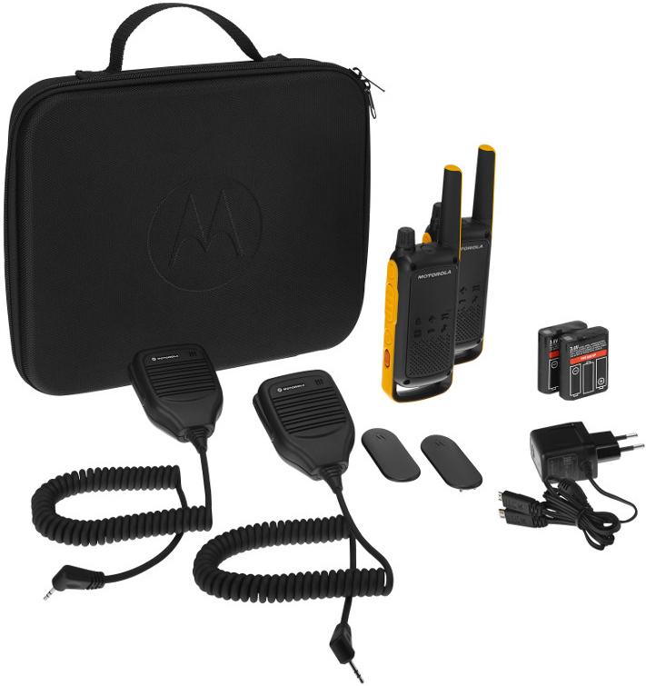 """Радиостанция Motorola """"TALKABOUT T82EXT RSM"""", цвет: желтый, черный B8P00811YDZMAG"""