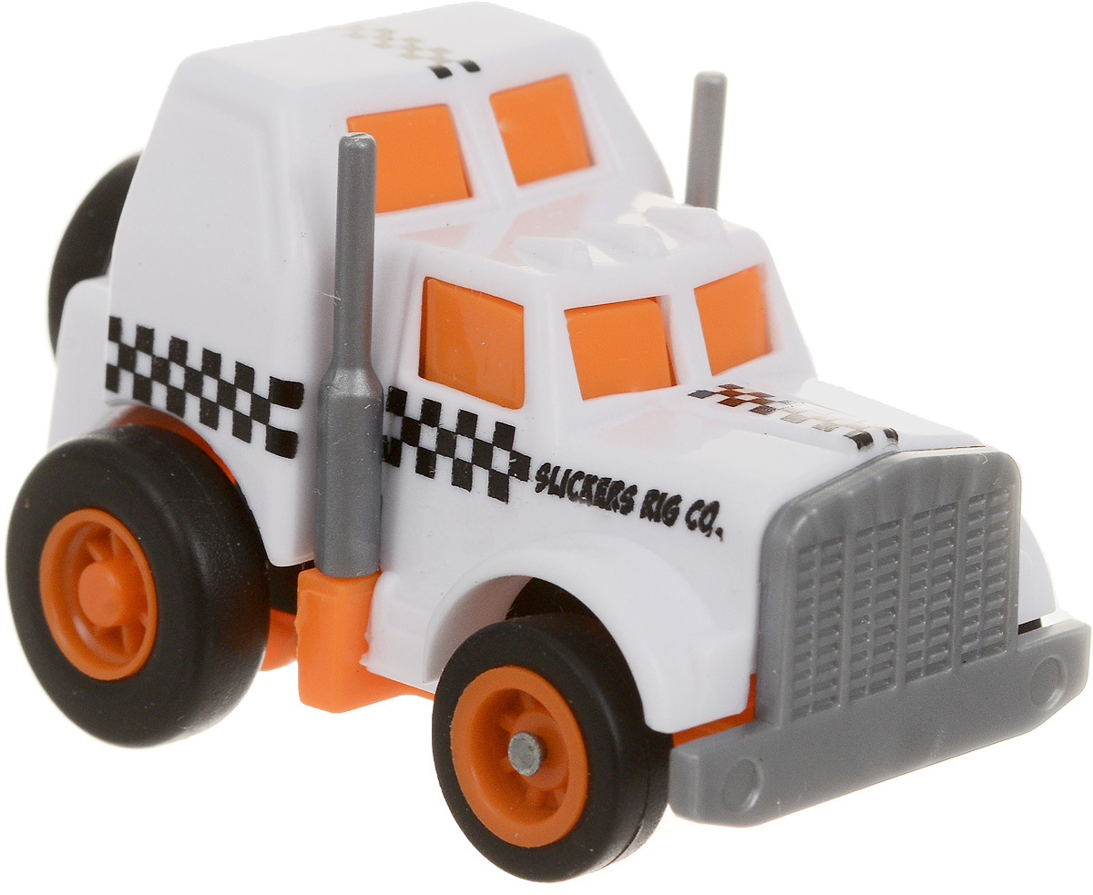 Maisto Машинка Slickers цвет белый оранжевый 15023 maisto машинка инерционная sandman ford f 150 xl