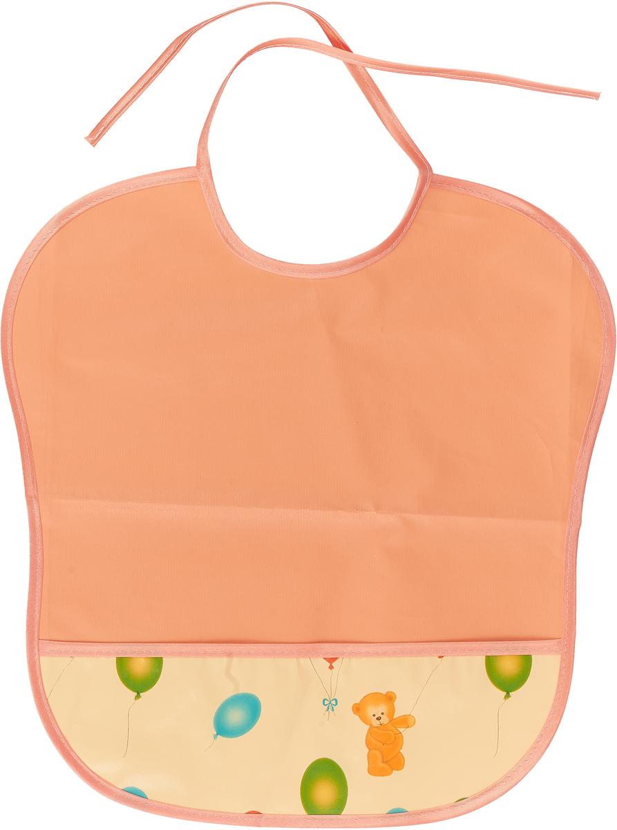 Колорит Нагрудник с карманом цвет оранжевый белый
