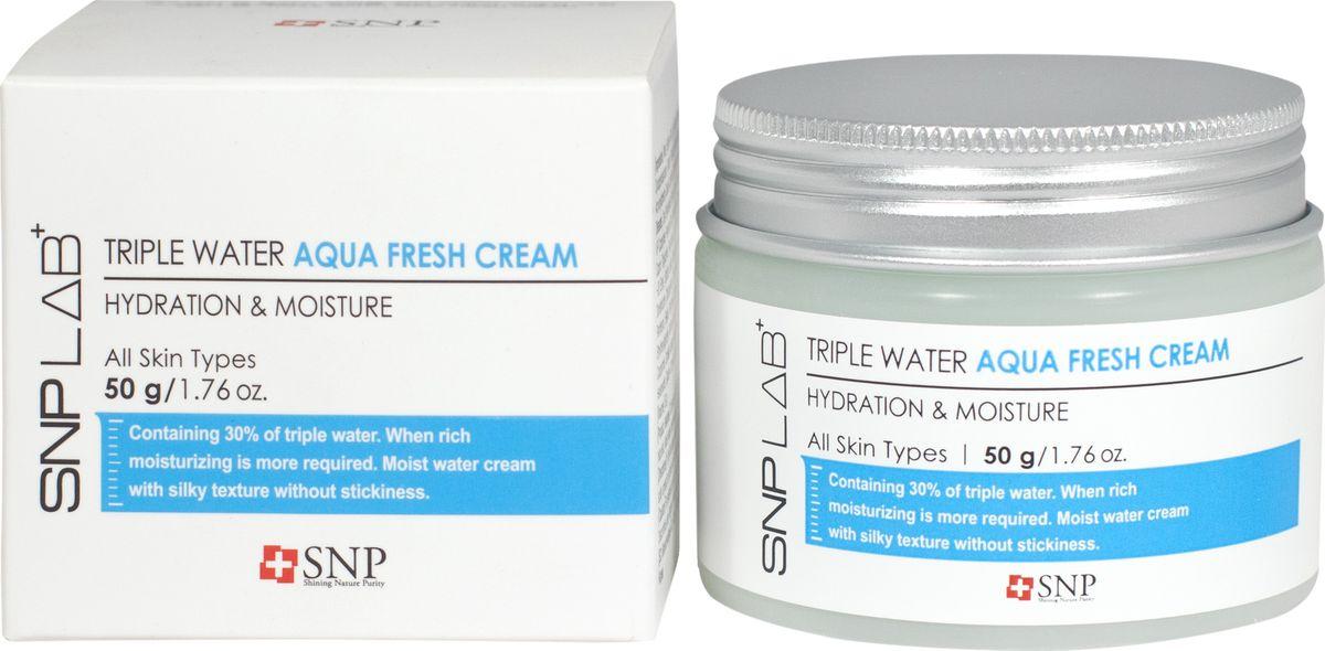 SNP Lab+Triple Water Fresh Gel Cream Освежающий гель-крем, 50 мл освежающий крем для жирной кожи innisfree green tea fresh cream