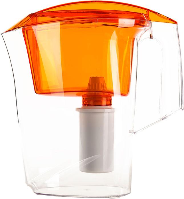 Фильтр-кувшин Гейзер Альфа, цвет: оранжевый, 2,5 л62047_оранжевыйКувшин Альфа выполнен из высококачественного пищевого пластика. Оригинальным дизайнерским решением является сочетание матового и прозрачного пластика. Кувшин можно мыть даже в посудомоечной машине. Картридж с материалом каталон (100% защита от вирусов).В комплекте: картридж Гейзер 501. Ресурс: 300 литров.Дополнительная информация:Общий объем кувшина: 3,5 л.Ресурс: 300 л.Температура очищаемой воды: до +40 °С.Скорость очистки: от 0,4 до 0,2 л/мин.