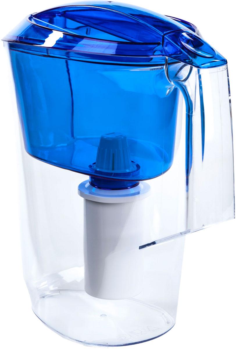 Кувшин Альфа выполнен из высококачественного пищевого пластика. Оригинальным дизайнерским решением является сочетание матового и прозрачного пластика. Кувшин можно мыть даже в посудомоечной машине. Картридж с материалом Каталон (100% защита от вирусов).  В комплекте картридж Гейзер 501. Ресурс 300 литров.  Дополнительная информация:  Общий объем кувшина - 3,5 л.  Ресурс 300 л.  Температура очищаемой воды до +40 °С.  Скорость очистки от 0,4 до 0,2 л/мин.