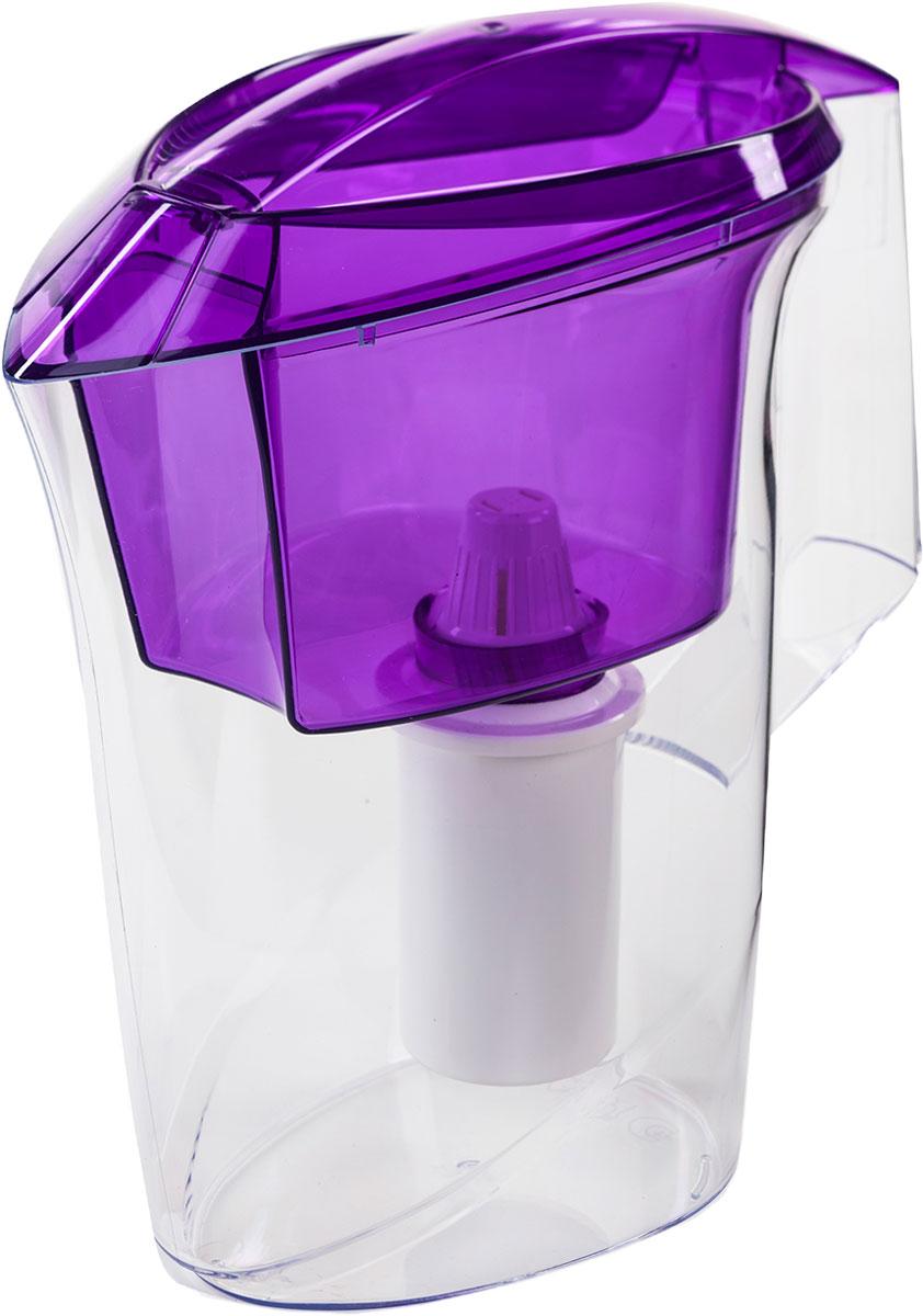 """Кувшин """"Альфа"""" выполнен из высококачественного пищевого пластика. Оригинальным дизайнерским решением является сочетание матового и прозрачного пластика. Кувшин можно мыть даже в посудомоечной машине. Картридж с материалом каталон (100% защита от вирусов).  В комплекте: картридж Гейзер 501. Ресурс: 300 литров.  Дополнительная информация:  Общий объем кувшина: 3,5 л.  Ресурс: 300 л.  Температура очищаемой воды: до +40 °С.  Скорость очистки: от 0,4 до 0,2 л/мин."""
