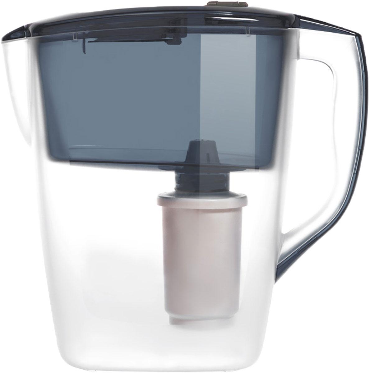 Фильтр-кувшин Гейзер Геркулес, цвет: графит, 4 л62043_графитФильтр-кувшин Гейзер Геркулес оптимален для семьи из трех и более человек. Оснащен механическим индикатором ресурса, который укажет, когда необходимо заменить картридж. Гейзер Геркулес используется для очистки холодной водопроводной и скважинной воды от ржавчины, растворенного железа, тяжелых металлов, хлора, органических соединений и других примесей. Улучшает вкус и цвет воды, а также устраняет неприятные запахи. Содержит активное серебро в несмываемой форме, которое блокирует размножение бактерий. В комплект Гейзер Геркулес входит картридж 501 для фильтра-кувшина, состоящий из уникального материала каталон, ионообменной смолы и кокосового угля. Картридж вкручивается в приемную воронку кувшина, обеспечивая герметичное соединение, что позволяет исключить протечку исходной воды. В комплекте картридж Гейзер 501. Ресурс: 350 литров. Дополнительная информация:Объем кувшина: 4 л Объем приемной воронки: 2 л Полезный объем: 2 л Температура очищаемой воды: до +40 °С. Скорость очистки: от 0,4 до 0,2 л/мин. Ресурс картриджа: 350 л.