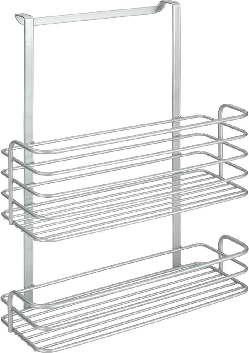 Полка для ванной Metaltex Oasis, 2-уровневая, цвет: серый, 26 х 12 х 36 см40.23.08Полка подвесная двойная OASIS METALTEX удобна и проста в использовании, вешается на дверцу за счет продуманной формы, не требует сверления. Два отсека полки экономно распределяют место для хранения. Polytherm - эксклюзивное прочное двойное покрытие: не электризуется, не ржавеет, нетоксично, легко моется, не царапается, отталкивает пыль.