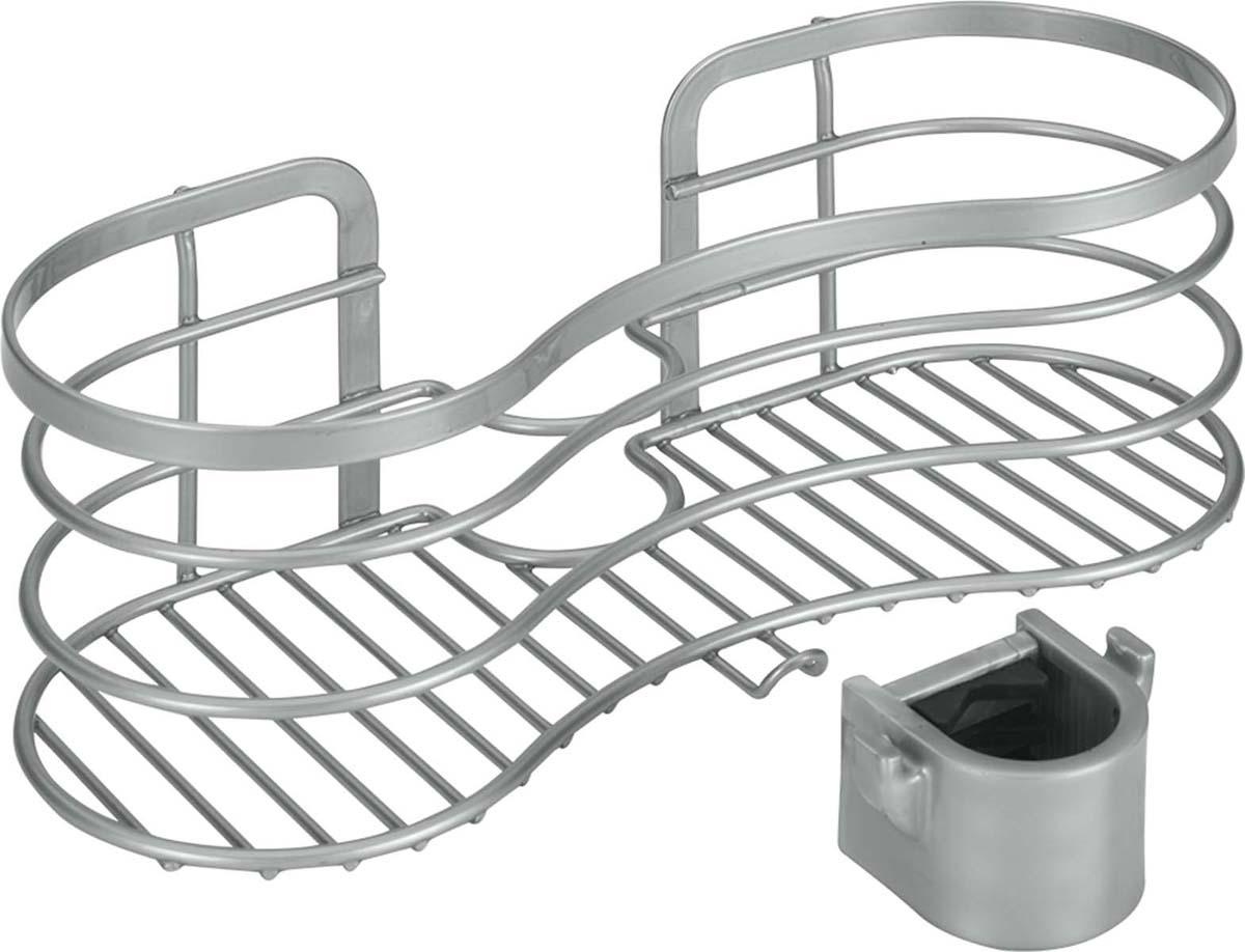 Полка для душевой штанги Metaltex Viva, цвет: серый, 29 х 12 х 11 см40.48.18Товары данной серии Metaltex позволяют обойтись без инструмента и не требуют монтажных работ. При производстве используется экологически чистое эксклюзивное двойное покрытие Polytherm, являющееся прекрасным защитным и повышающим износостойкость слоем для металлических изделий, эксплуатируемых в помещениях с повышенным уровнем влажности (ванные комнаты и кухни). Суть покрытия Polytherm заключается в двойной обработке поверхности - в первую очередь наносится металлический слой, а затем прозрачное защитное покрытие. Данная обработка препятствует возникновению ржавчины и создает барьер для оседания пыли. Покрытие Polytherm не токсично при контакте с пищевыми продуктами, не электризуется, не царапается и легко моется.