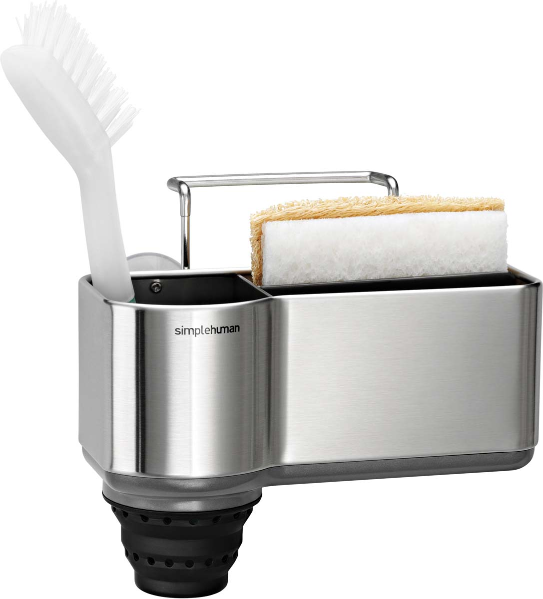 Вешалка для раковины надежно крепиться на 4 нескользящие присоски и крючок. Имеет отсеки для хранения губок и даже длинных щеток и ершиков. Благодаря форме вешалки губки быстро сохнут, что минимизирует рост бактерий. Сушилка для кухонных аксессуаров поможет содержать пространство вокруг раковины в чистоте и держать все необходимое для мытья посуды под рукой. Надежно крепится на 4 нескользящие присоски и широкую выступающую проволоку. Имеет отсеки для хранения губок, а также выдвигающийся силиконовый отсек для длинных щеток и ершиков. Благодаря отверстиям в дне сушилки и приподнятому отделению для губок, аксессуары быстро сохнут, что минимизирует рост бактерий. Сушилка сделана из прочных и долговечных материалов, устойчивых к ржавчине и выцветанию. Компания SH использует лучшие материалы и новейшие технологии при производстве, поэтому наша продукция будет служить вам годами.
