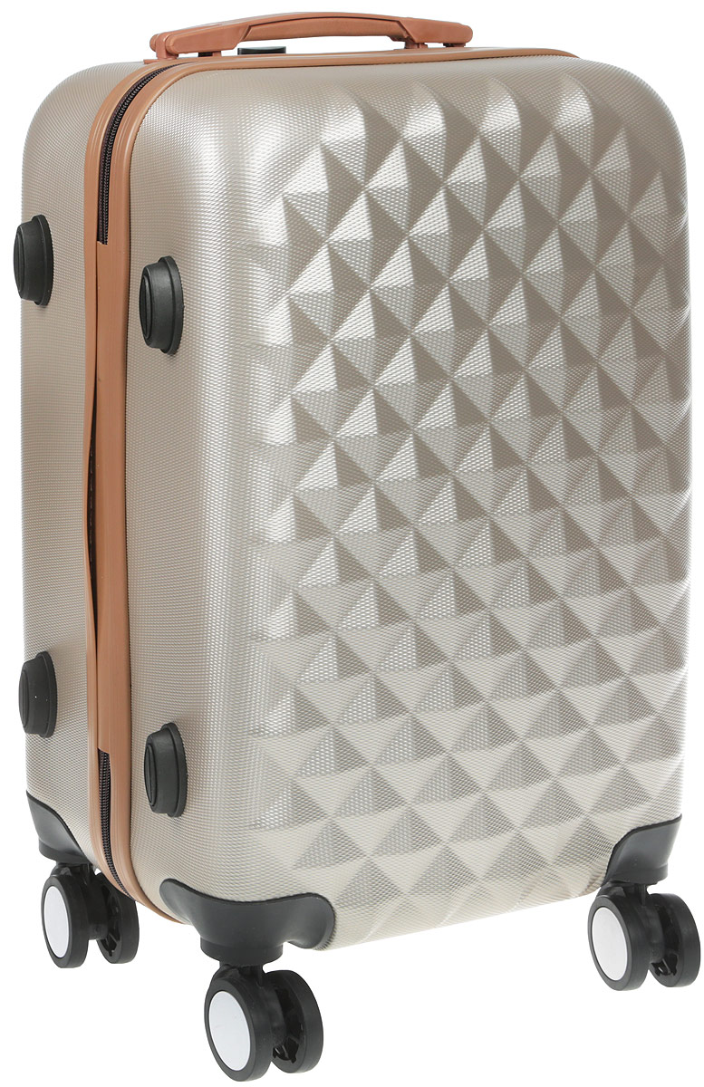 Чемодан Proffi, цвет: бежевый, 36 х 26 х 56 см, 45 л. PH8367 чемодан samsonite чемодан 55 см lite biz
