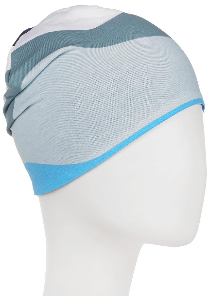 Шапка детская Reima, цвет: синий, зеленый, голубой. 5285836641. Размер 56 шапка женская nuages цвет голубой nh 742 106 размер универсальный