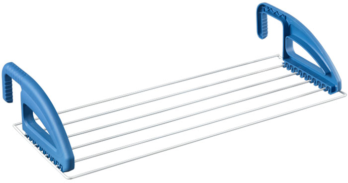 Сушилка для белья Metaltex Click, на радиатор, 3м, 60*23 Epotherm40.58.10Сушилка для белья Click может использоваться на балконе или окне. Она изготовлена из стали с покрытием, которое является антистатическим материалом и не притягивает пыль, а также является водостойким, что позволяет использовать сушилку на балконе и во влажных помещениях. Сушилка состоит из 6 стальных струн и пластиковых держателей, которые надежно крепятся к опоре. Сушилка для белья Click компактно складывается, экономя место в вашей квартире.