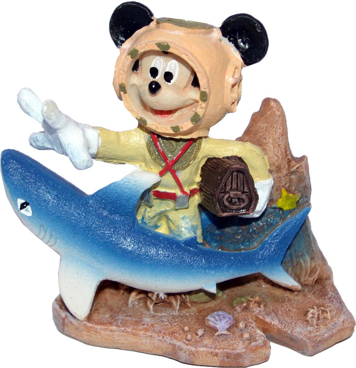 Декорация для аквариума Penn-Plax Микки Маус с сокровищами, 6 х 2,5 х 5,1 см декорация для аквариума penn plax племя тики 15 см