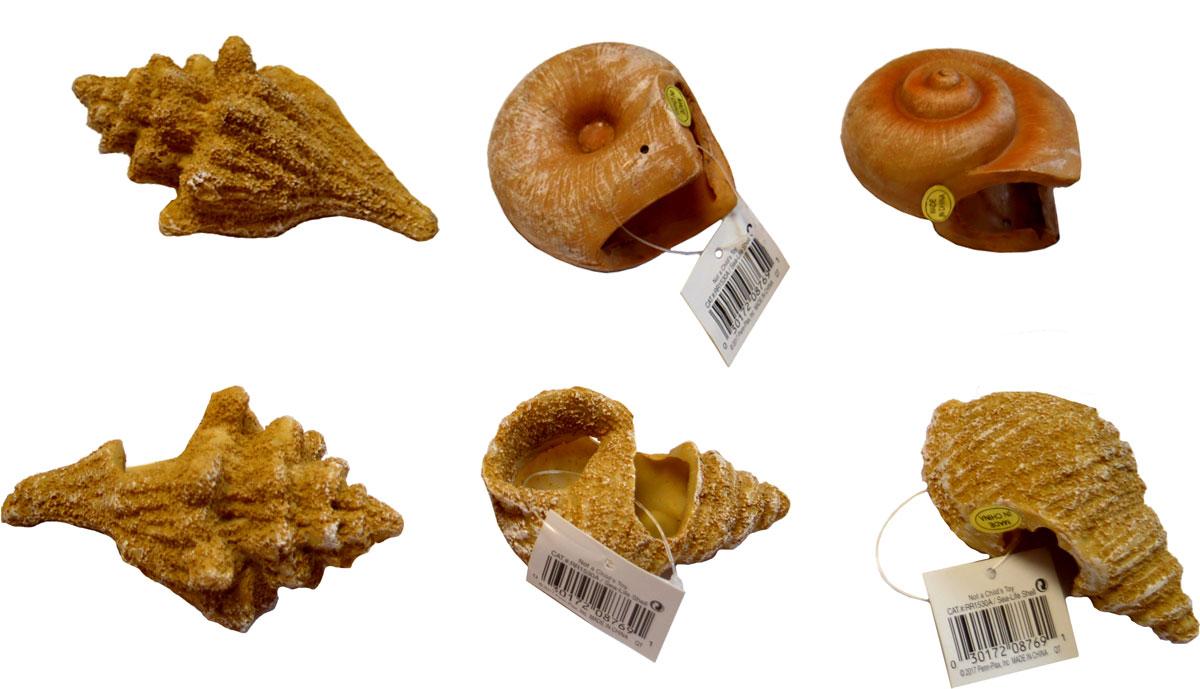 Набор декораций для аквариума Penn-Plax Песчаные ракушки, 6 предметов penn plax камень для птиц минеральный banana page 9