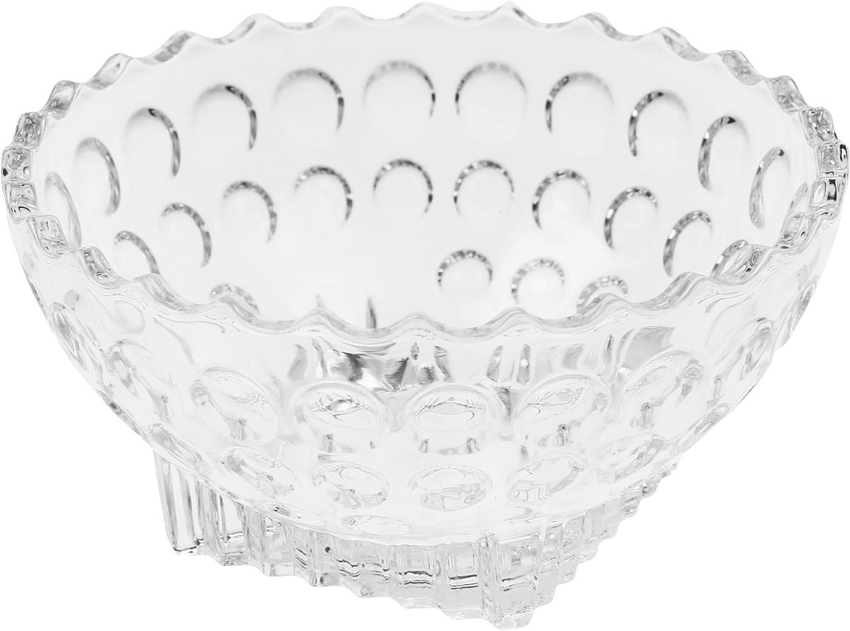 Салатник Isfahan Simin, диаметр 12 см607/1Салатник изготовлен из стекла, прекрасно подойдет для подачи различных блюд: закусок, салатов или фруктов.Такой салатник украсит ваш праздничный или обеденный стол, а оригинальный дизайн придется по вкусу и ценителям классики, и тем, кто предпочитает утонченность и изысканность.