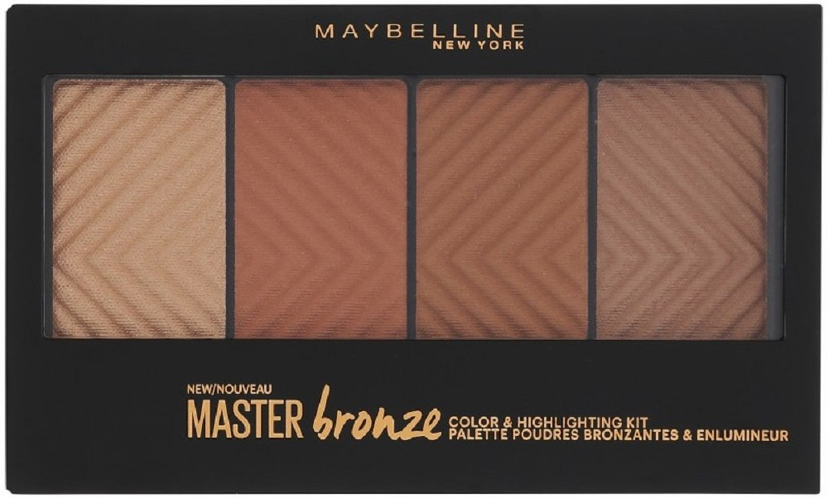 Maybelline New York Бронзовая палетка для контурирования лица Master Bronze, оттенок 30, 13,5 г kiss new york professional палетка теней для век hexa 6 оттенков pink taupe 10 5 г