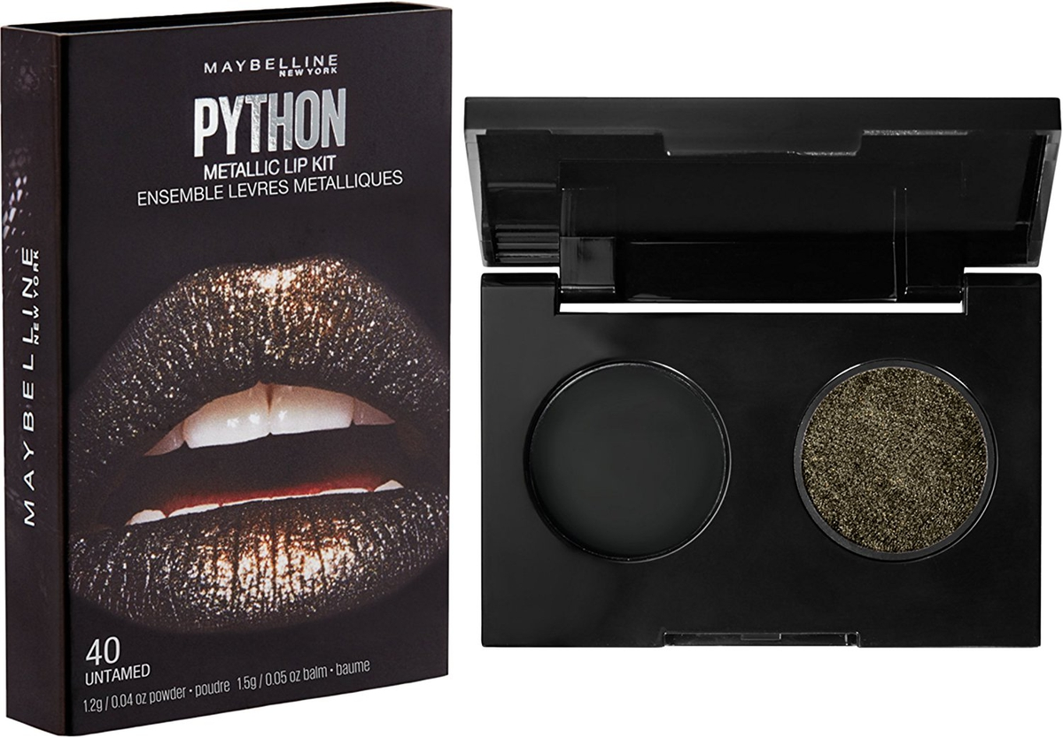 Maybelline New York Арт-палетка для макияжа губ Python, оттенок 40, Fatal, 15 г maybelline maybelline палетка теней blushed nudes 01 blushed nudes